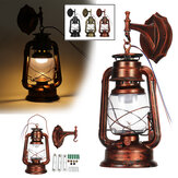 Retro Vintage Rare Iron Wall Hanging Kerosene Oil Lighting Lamp Table Light