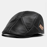 BanggoodデザインPUレザーソリッドカラーアウトドアウォームフォワードハットベレー帽