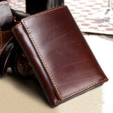 RFID Blocking Original Leather Multi-Card Slots Tri-fold Wallet για άνδρες