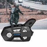 WAYXIN R5 2pcs bluetooth Intercom 2 Rider FM Motorcycle bluetooth Helmet Intercom 1000M MOTO Interphone Helmet Headsets