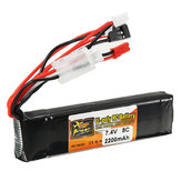 ZOP Power 7.4V 2200mAh 8C 2S Lipo-batterij JR JST FUBEBA-stekker voor zender