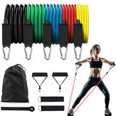 KALOAD 11 Pcs/Set 150lbs Resistance Bands Latex Exercise Pull Rope Expander Home Gym Training Fitness Equipment