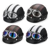 Мотоцикл скутер половина шлем Шапка открытое лицо щит козырек с солнцем UV очки
