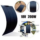 200 واط طقم وحدة الخلايا الشمسية لوحة مرنة ل 12 فولت / 24 فولت رف / سيارة / قارب ضد للماء