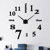 الإبداعي diy الاكريليك مرآة الحائط ساعةحائط الكوارتز ساعة الحائط تزال الحياة الحديثة ساعةحائط ثانية إبرة غرفة المعيشة ديكور المنزل ملصقات