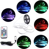 DC5V Niet Waterdicht USB RGB 5050 LED Strip TV Backlight Kit + 17 toetsen afstandsbediening