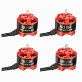 4 X Racerstar Racing Edition 1104 BR1104 6500KV 1-2S Brushless Motor for 100 120 150 for RC Drone FPV Racing