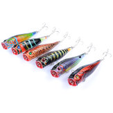 ZANLURE 6 pz / set 9 cm 14.4g TORCIA esca top acqua Coloreful Modello Bionic Popper Hard Bait