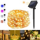 5 Colors 8 Modes 20m 200 LED Solar String Light Copper Wire Fairy Garden Lights String Outdoor Party Christmas Holidays