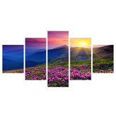 5 Pcs Wall Decorative Painting Colorful Sunrise Canvas Print Art Pictures Frameless Wall Hanging Decorations for Home Office