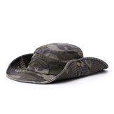 Men Summer Cotton Camouflage Visor Bucket Hats