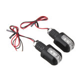 2 pcs 12 V Motocicleta Âmbar Lidar Com Bar End Turn Signal 6LED Indicador de Luz Blinker