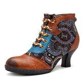 SOCOFYزيبرربطالحذاءحتىالأحذية في الكاحل والجلود