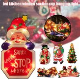 Santa Claus LED Suction Cup Window Hanging Light Christmas Atmosphere Scene Festival Decorative Lamp