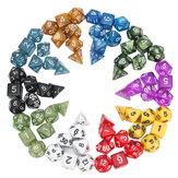 جهاز كمبيوتر شخصى مجموعة متنوعة من 70 مجلس النرد متعددة السطوح RPG النرد مجموعة 10 ألوان 4D 6D 8D 10D 12D 20D مع 10 حقيبة