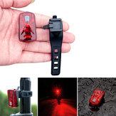 XANES TL03 Велосипед LED Задний фонарь USB аккумуляторная батарея 0.5W Водонепроницаемы Безопасность Высокая видимость