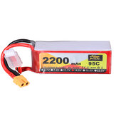 ZOP Power 14.8V 2200mAh 95C 4S Lipo Батарея XT60 Разъем для RC Racing Дрон