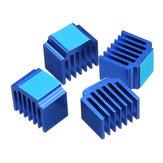 4 UNIDS 14 * 10 * 13mm Disipador térmico de enfriamiento con pegamento trasero para DRV8825/TMC2100 Stepper motor Controlador 3D parte de la impresora
