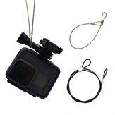 Сталь Провод Веревка для Gopro XiaoYi Soocoo SJcam Экшн-камеры 30 см 60 см Анти Lost Safety Веревка