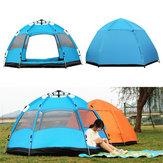 5-8KişiOtomatikPopUpAnında Büyük Çadır Su Geçirmez Outdoor Kampçılık Aile UV Güneşlik Barınak