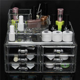 6 Laci Batal Acrylic Make Up Organizer Laci Kosmetik Tampilan Holder Case Storage 2 Layer