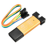 Geekcreit® 3.3V 5V XTW ST-LINK V2 STM8 / STM32 Simulator Programmer Downloader Debugger 500MA Fuse Short Circuit Protection Aluminum Alloy U Disk Shell With 20cm Dupont Wire