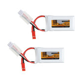 2Pcs ZOP Power 7.4V 350mAh 60C 2S Lipo Battery JST Plug for MJX X401H X402 JXD 515 515W 515V RC Drone