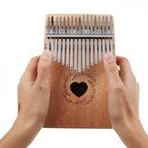 17 Keys Wood Kalimba Sapele Material Thumb Piano Finger Percussion With Tuning Hammer