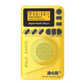 DAB + Digital FM 174–240 MHz Rádio LCD Display Cartão SD Alto-falante Música MP3 Player Altifalante