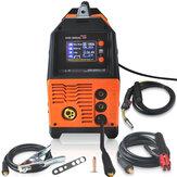 MIG-200AL 6 in 1 220-V-Wechselrichter-Lichtbogenschweißmaschine MIG / MMA / LIFT-WIG / PULS-ALMG / PULS-AlSi / DOPPELPULS-Schweißgerät zum Schweißen von Elektroarbeiten LCD Anzeige