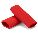 Motorcycle Handlebar Grip Cover Slip-on Foam Anti Vibration Comfort Red Universal