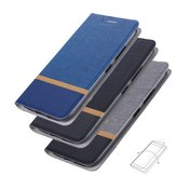 Bakeey Flip Stand Steel Layer Canvas Pattern PU Leather Full Protective Case For ASUS Zenfone Max(M1) / ZB555KL