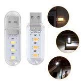 Portátil Mini SMD5730 0.8W USB LED Luz de Noche de Cámping Rígida para Banco de Energía Notebook DC5V