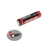 Weltool UB18-35 1 قطع 3500 مللي أمبير USB قابلة للشحن 18650 البطارية لمضيا دراجة كهربائية