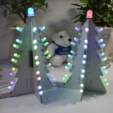 Geekcreit® Fai Da Te Kit di Albero di Natale a Grandi Dimensioni LED a Colori Completi Full Color Controllo di Luce