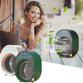 Mini Air Conditioner Portable USB Fan Air Cooler Humidifier 3 Speed Adjustable 6 Color Light Conditioning Purifier