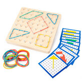 Montessori Traditional Teaching Geometry Puzzle Pattern Educational School Home Game Toy for Kids Gift
