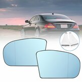 Car Left/Right Blue Anti Glare Heated Rearview Mirror Glass For Benz C E Class W211 W203 A2038100121 A2038100221