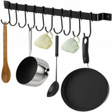 10Pcs Hooks Iron Hanging Holder Wall Mounted Kitchen Cookware Storage Rack