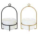 Creativo semplice Dome vaso da fiori in ferro battuto con lavabo in ceramica