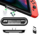 Plextone GS2 Type-C bluetooth Verici Apt HD Ses Adaptörü, Kablosuz Hoparlör için PS5 PC Dizüstü Bilgisayarlar için Nintendo Switch için Eşzamanlı Bağlantıyı Destekler
