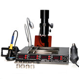YIHUA 1000B 110V/220V 4 in 1 Infrared Bga Rework Station SMD Hot Air Spear+75W Soldering Irons+540W Preheating Station