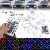 4pcs rgb 80 millimetri multi-colore 5050 di infiammabilità LED SMD 12v Angel Eyes e telecomando
