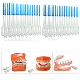 400pcs Interdental Between Teeth Floss Brush Elastic Massage Gum Toothpick