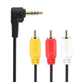 CHOSEAL QS3000 3.5mm a 3RCA Macho a audio Video AV Cable 1 en 3 Adaptador Extensión Cable de audio para TV