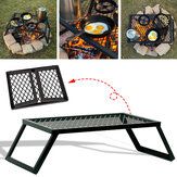 Portable Folding Campfire Grill Grate Camping BBQ Cooking Open Over Fire Outdoor Folding Garden Furniture
