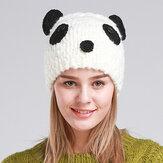 Kadın Sevimli Panada El Yapımı Örgü Bere Şapka