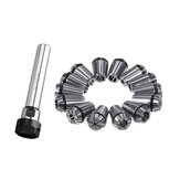 C20-ER20A-100L Collet Chuck Holder with 14PCS ER20 Spring Collet for CNC Milling Lathe Tool