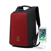 15.6 дюймов Рюкзак для ноутбука Сумка Travel Сумка Студент Сумка с внешним USB-портом для зарядки