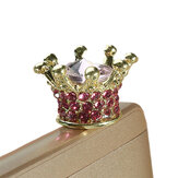 Universele 3,5 mm Rhinestone Crown Vuilvrije Plug Phone Decoration